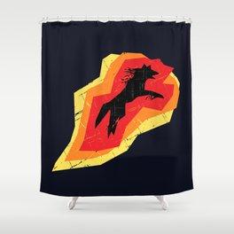 Fire Wolf (Texture) Shower Curtain
