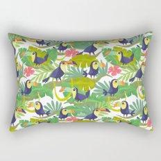 Toucan Paradise Pattern Rectangular Pillow