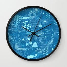 Science Schemes Pattern Wall Clock