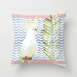 Cockatoo Soiree Throw Pillow
