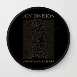 UNKNOWN PLEASURES #GOLD Wall Clock