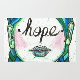 """Words Within: """"Hope"""" Rug"""