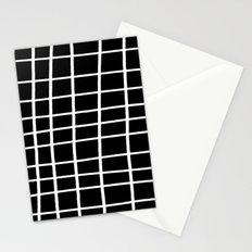 Hand Grid Large Black Stationery Cards