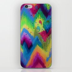 BOLD QUOTATION 2 - Colorful Bright Cheerful Fine Art Chevron Pattern Ikat Quote Modern Painting iPhone & iPod Skin
