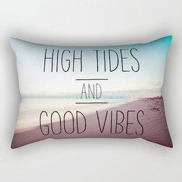 High Tides and Good Vibes Rectangular Pillow