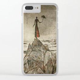 Monsieur Parapluie Clear iPhone Case