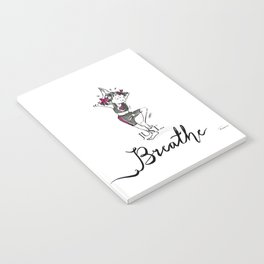 Just Breathe Yoga Art Notebook