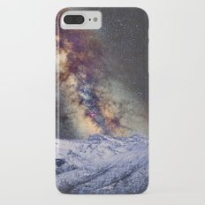 The star Antares, Scorpius and Sagitariuss over the hight mountains. The milky way. iPhone 7 Plus Slim Case