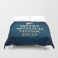 jay z Duvet Covers featuring What Would Hova Do? - Jay-Z by Luke Eckstein
