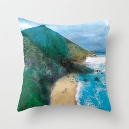 Wild Beach Throw Pillow