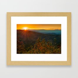Sunset Point Vista - Talimena Scenic Byway in Autumn Framed Art Print
