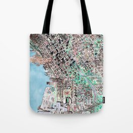 The Seattle Doomsday Map Tote Bag