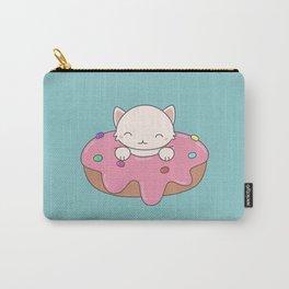 Kawaii Cute Cat Donut Carry-All Pouch