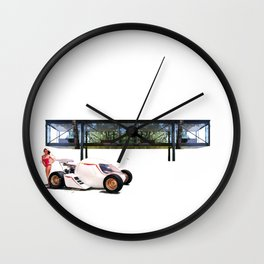 Mork-egg-Machine + Glass House Wall Clock