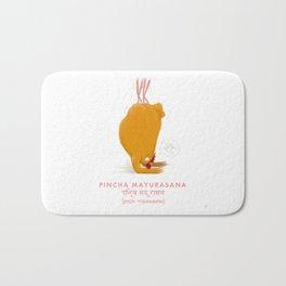 Pincha Mayurasana Chicken Yoga Bath Mat