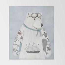 the arctic explorer Throw Blanket