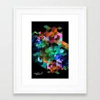 tetris Framed Art Prints featuring TETRIS by Creative Streetwear