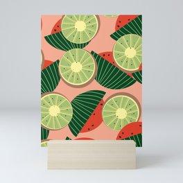 Watermelons and kiwis Mini Art Print