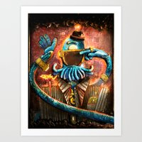zoidberg Art Prints featuring Donny Darkmatter by TheJCW