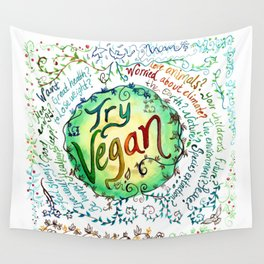 Try Vegan Wall Tapestry