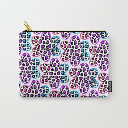 Rainbow Leopard Flower Carry-All Pouch