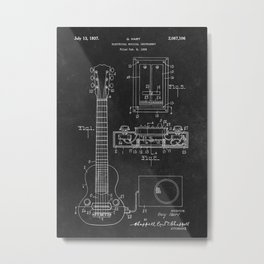 Patent Hart Electrical Mus Metal Print