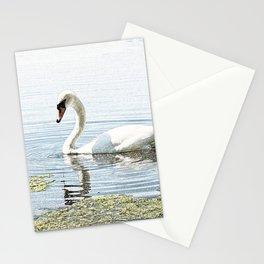 Swan on Attenborough Nature Reserve, Nottingham,England Stationery Cards
