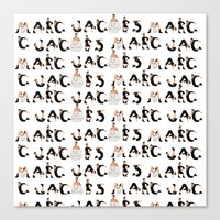 marc allante Canvas Prints featuring Marc Jacobs by cvrcak