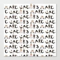 marc jacobs Canvas Prints featuring Marc Jacobs by cvrcak