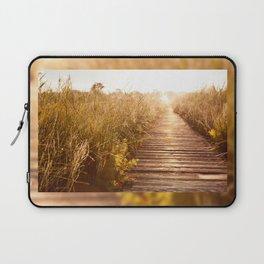 boardwalk and morass grass Laptop Sleeve