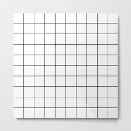 Grid (White) Metal Print