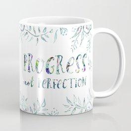 PROGRESS NOT PERFECTION Inspirational Quote Coffee Mug