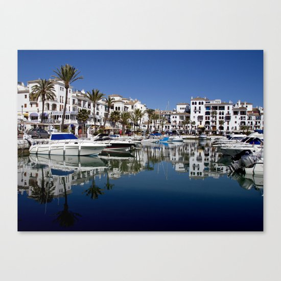 Port Reflections Canvas Print