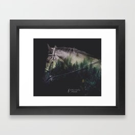 Double Exposure Horse Framed Art Print