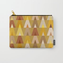 Deer Head Geometric Triangles | mustard yellow taupe Carry-All Pouch