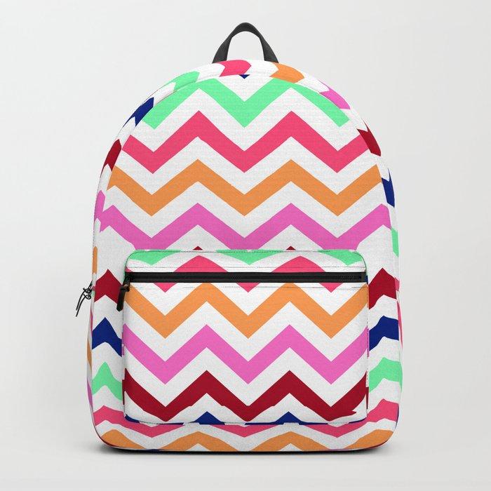 Chevron Zigzag Multicolor Backpack
