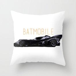 Batmobile Throw Pillow