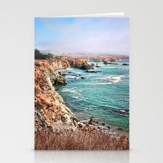 California coastline Stationery Cards
