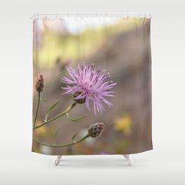 Purple Flowers Vintage on the Beach Shower Curtain