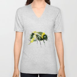 Bumblebee minimalist bee decor Unisex V-Neck
