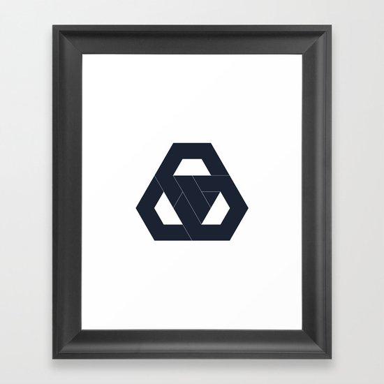 #330 Hexagon knot – Geometry Daily Framed Art Print
