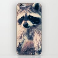 racoon iPhone & iPod Skins featuring racoon by oslacrimale