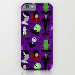 Halloween Monsters (purple) iPhone Case