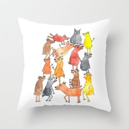 Dog Pyramid Throw Pillow