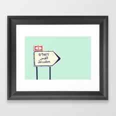 Jerusalem This Way Framed Art Print
