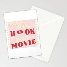 Book Lover T-Shirt Never Judge A Book By Movie Reader Gift Stationery Cards