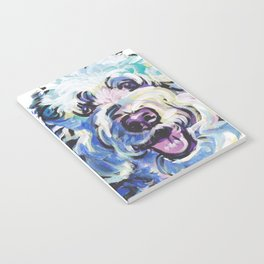 Golden Doodle Dog Portrait Pop Art painting by Lea Notebook