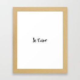 I Love You in French Framed Art Print