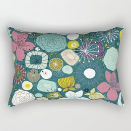oriental blooms peacock Rectangular Pillow