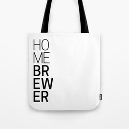 Homebrewer (Black) Tote Bag